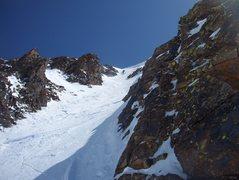 Rock Climbing Photo: Upper couloir-Redcloud peak.
