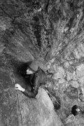 Rock Climbing Photo: my dad in the corner