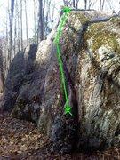 Rock Climbing Photo: The dirty but fun route.