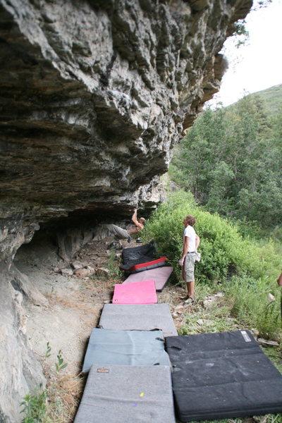 Rock Climbing Photo: Joby at the start of Showcase Showdown