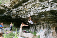Rock Climbing Photo: Ed Strang on Bikini Kill