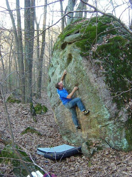 Rock Climbing Photo: Matt.  Good problem, neat features.  Hard V1.