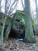 Rock Climbing Photo: Kinda dirty topout, could use a little more love, ...