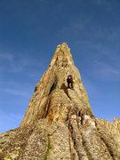 Rock Climbing Photo: Climbing Wolf's Head May 08