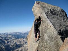 Rock Climbing Photo: tbolt summit block