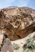 Rock Climbing Photo: Parrot Fashion Boulder Left Topo
