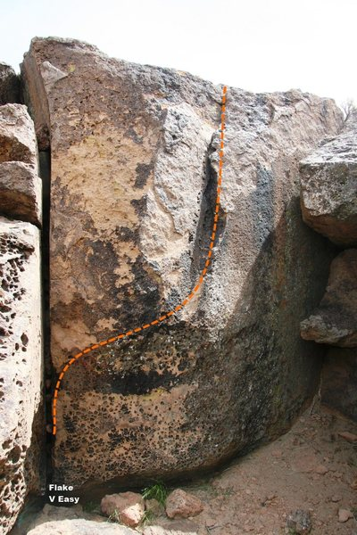 Sad Parrot Boulder Flake Problem Topo