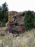 Rock Climbing Photo: Matty Karasik putting the finishing touches on Smo...