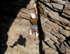 """Rock Climbing Photo: Myself on """"Out and About"""" 5.9"""