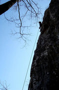 Rock Climbing Photo: Silhouette of a Climber in Ar