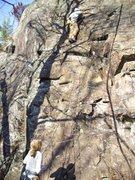 "Rock Climbing Photo: Mike climbing ""Greg's Sonic Boom"" 5.7"
