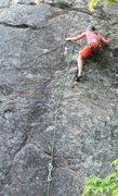 Rock Climbing Photo: Melissa on the far left slab 5.8+