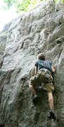 "Rock Climbing Photo: Bill on the start of ""Cheese and Crackers&quo..."