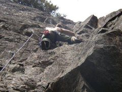 "Rock Climbing Photo: Unknown climber on ""Cheese and Crackers""..."