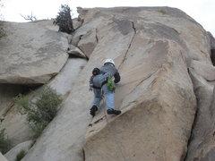 Rock Climbing Photo: Nathan leading Smooth as Silk.