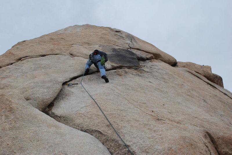 Rock Climbing Photo: Nathan heading up Toe Jam.