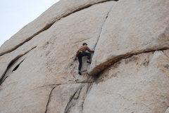 Rock Climbing Photo: Me following on The Bong.