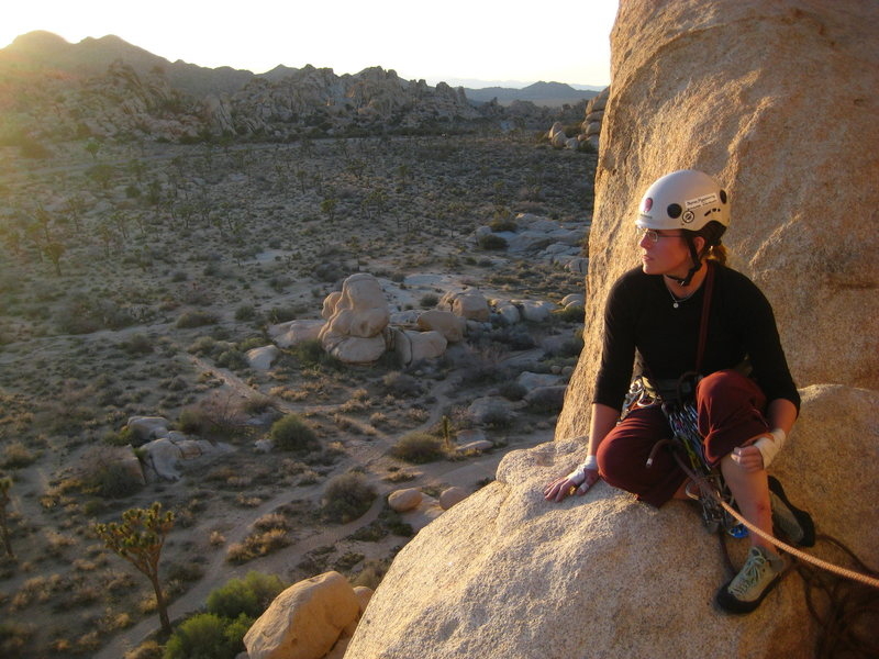 Rock Climbing Photo: Watching a Joshua Tree sunset from the top of Doub...