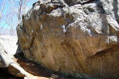 Rock Climbing Photo: Iron Cross starts on the well chalked right facing...
