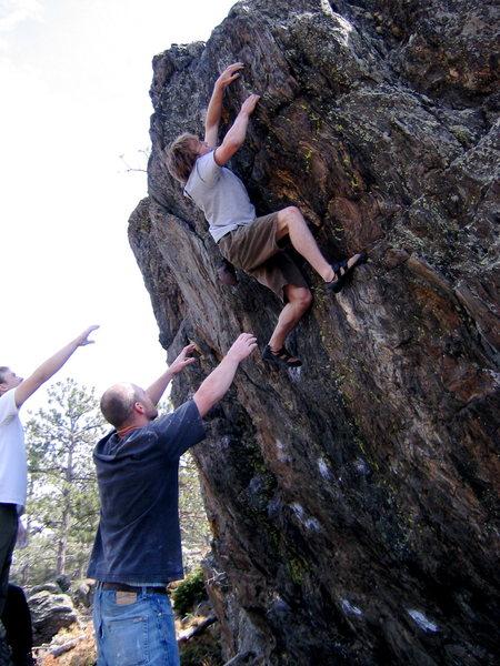 Rock Climbing Photo: Good spotting.