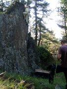Rock Climbing Photo: My sister Sarah on the warmup.