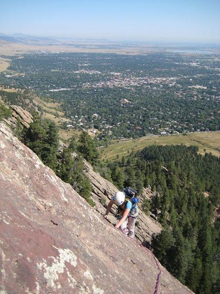 The first flatiron, Boulder CO