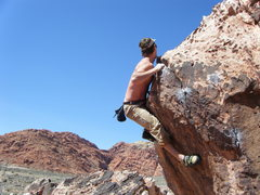 Rock Climbing Photo: Ryan topping out the Unknown.