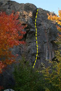 Rock Climbing Photo: Here is the main line.