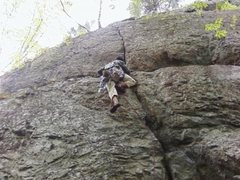 "Rock Climbing Photo: Myself on ""Social Interaction"""