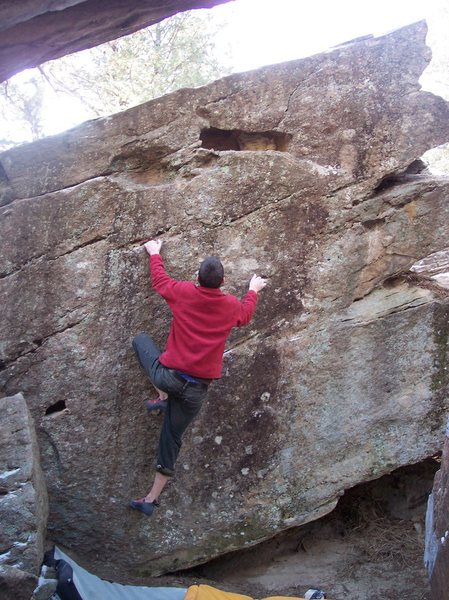 Rock Climbing Photo: A problem right by the Cave Direct, not sure what ...