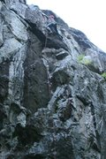 "Rock Climbing Photo: Myself just past the Roof crux of ""Flying Gum..."