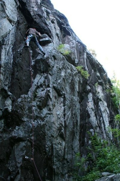 "Rock Climbing Photo: Myself on the rest before the crux of ""Flying..."