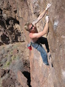 Rock Climbing Photo: Peter Dickens on If You Can't Do It, Glue It