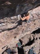Rock Climbing Photo: Colin Cikoski leaving the ledge on Bob Marley Meet...