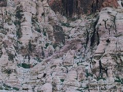 Rock Climbing Photo: The Varnished wall on the left holds the route Gem...