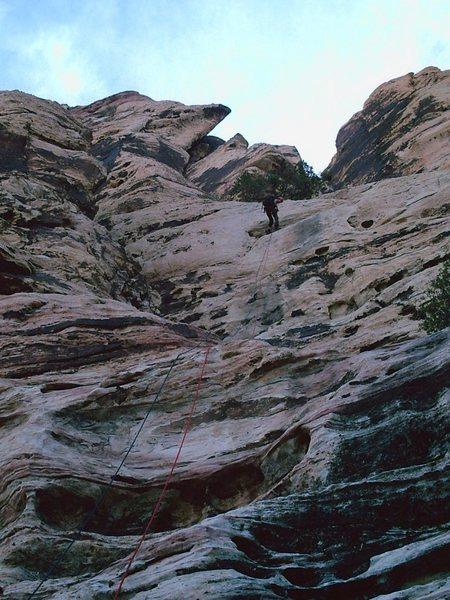 The long Rappel descend teh Gemstone gully.