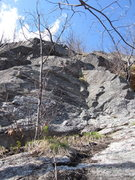 Rock Climbing Photo: 'Freedonia' One of the furthest ledges uphill to g...