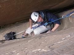 Rock Climbing Photo: struggling in the Epi chimneys
