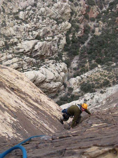 Rock Climbing Photo: Coming up the upper pitches of Epi