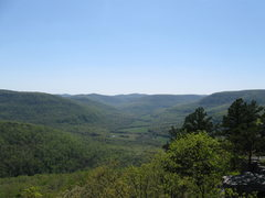 Rock Climbing Photo: View of the valley below Sam's Throne