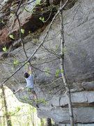 Rock Climbing Photo: Crit hanging on