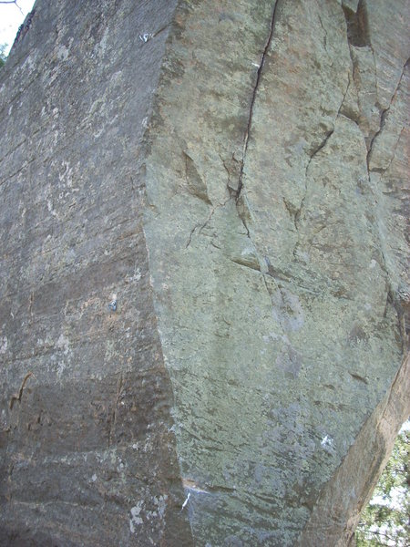 Rock Climbing Photo: Top half of the route.
