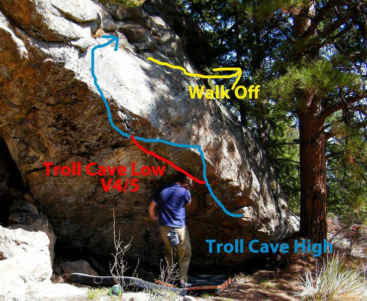 Rock Climbing Photo: The Troll Cave.