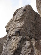 Rock Climbing Photo: Launching up Static Cling