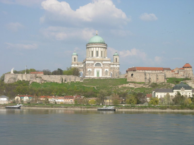 The basilica at Esztergom in northern Hungary.