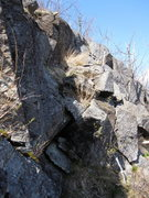 Rock Climbing Photo: This is the western part of the upper section of t...