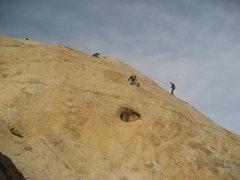 Rock Climbing Photo: Ben heading for the top