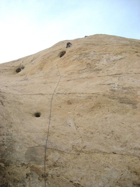 Lance Bateman making the second ascent