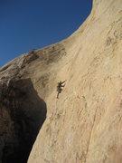 Rock Climbing Photo: Ben starting the long pitch