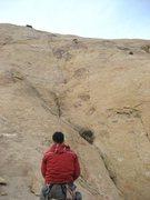 Rock Climbing Photo: Maura on lead.